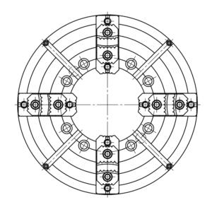 Патрон четырехкулачковый ПТ4Н-630.270