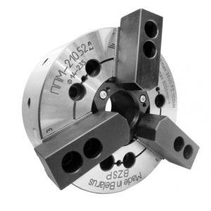 Патрон токарный трёхкулачковые механизированный полый (тип ППМ)