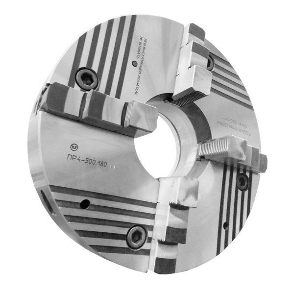 Патрон клинореечный четырехкулачковый ручной самоцентрирующий ПР4-500.180